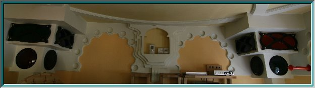 Nouveau circle ornament, architectural frieze, interior, object, space installation