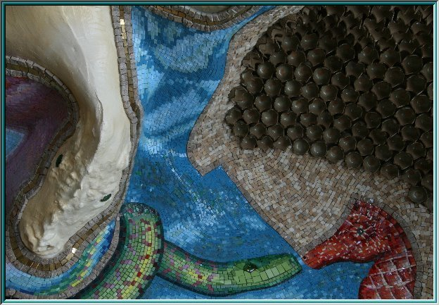 mosaic wall Greek St. Peter's Basilica, Dining room floor mosaic, Rome, mosaic ceiling octagon kite, mosaic