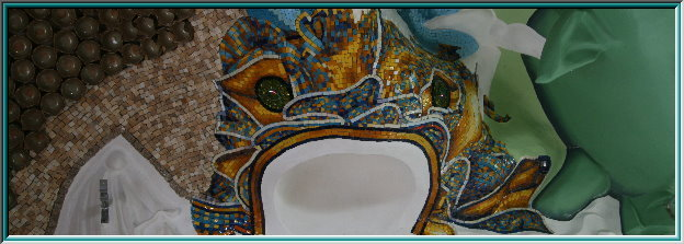 wall mosaic templates, San Vitale, ceiling sculpture, ceramics, mosaic, mosaic cubes, wall decorations, gold foil