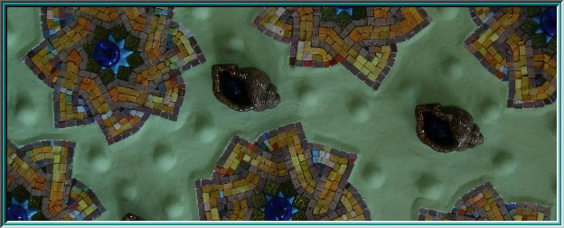 Casa Milà, marble mosaic, stone tiles, mosaic tiles, mosaic jewelry, relief inlay, tiger eye, topaz, star, mosaic