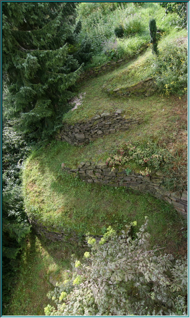 wild landscape, Terrace, Serpentine, Terraced slopes, piled walls