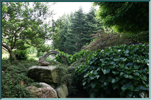 Park, rock garden, Zen garden, miniature landscape, Dragon Gate Waterfall, Garden Art, Botanical Garden