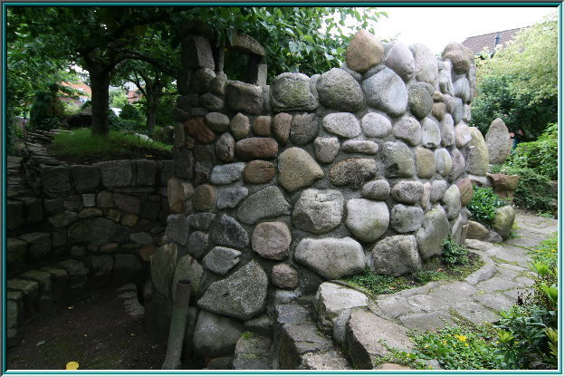 stone tower ruins, Defense system, military, Citadel, cliff, dungeon, surrounding walls, kennels, garden art, pedestal