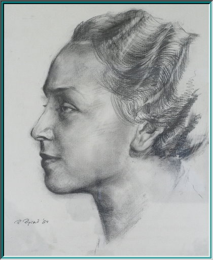 portrait drawing pencil. Profile drawing, pencil